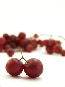 Red Grapes On White, Vertical Stock Photography