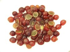 Free Sliced Red Grapes In Water Royalty Free Stock Photos - 4619258