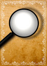 Free Grunge Border With Magnifying Glass Royalty Free Stock Image - 4620006