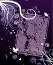 Free Violet Grunge Floral Design Stock Photo - 4622170