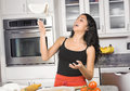 Free Tossing Pizza Dough Royalty Free Stock Image - 4627106