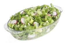 Free Fresh Salad In Glass Bowl Royalty Free Stock Images - 4620569