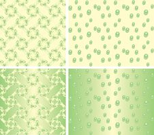 Free Vector Seamless Pattern - Floral Ornament And Drop Stock Images - 4620994