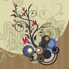 Free Abstract Floral Design Royalty Free Stock Image - 4621186