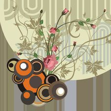Free Abstract Floral Design Royalty Free Stock Images - 4621189