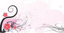 Free Grunge Floral Design Royalty Free Stock Photos - 4622158