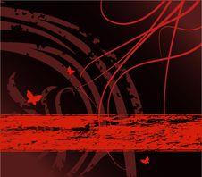Free Grunge Floral Design Stock Image - 4622261