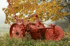 Old Plow Stock Photography