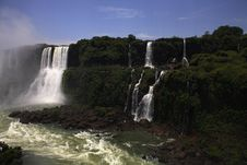 Iguassu (Iguazu; Iguaçu) Falls - Large Waterfalls Royalty Free Stock Image
