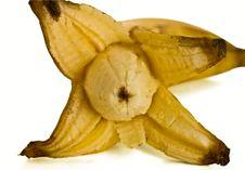 Free Opened Banana With Shadow Stock Photos - 4623463