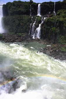 Free Iguassu (Iguazu; Iguaçu) Falls - Large Waterfalls Royalty Free Stock Photos - 4623528