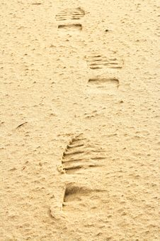 Free Footprints On Sand. Royalty Free Stock Photo - 4623535