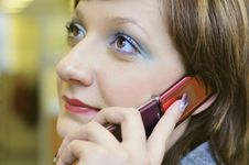Young Woman Calling By Phone Stock Photos