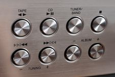 Free Metallic Music Control Round Buttons Stock Image - 4623701