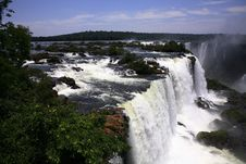 Free Iguassu (Iguazu; Iguaçu) Falls - Large Waterfalls Royalty Free Stock Images - 4623719