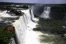 Free Iguassu (Iguazu; Iguaçu) Falls - Large Waterfalls Royalty Free Stock Photo - 4623765