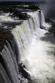Free Iguassu (Iguazu; Iguaçu) Falls - Large Waterfalls Royalty Free Stock Photo - 4623995