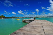 A Boat Ramp In Grand Bay Stock Photos