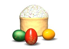 Free Festive Easter Cake And Eggs Royalty Free Stock Photography - 4624357