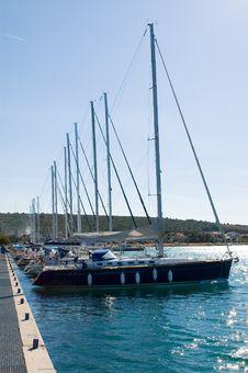 Free Yachts Line Stock Photos - 4625213
