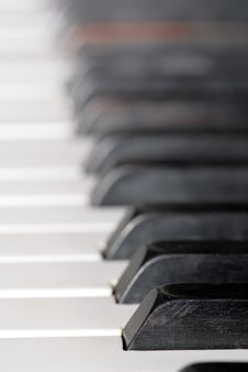 Free Close-up Of Piano Keyboards Stock Photos - 4625433