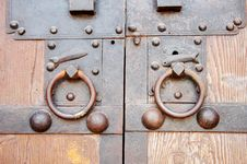 Chinese Old Door Royalty Free Stock Images