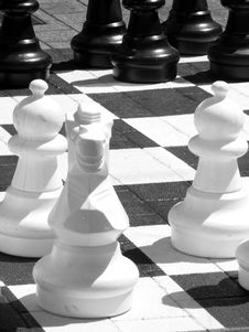 Free Outdoor Chess Stock Photography - 4625892