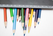 Pencils And Ruller Royalty Free Stock Photo