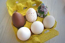 Eggs In Harmony Royalty Free Stock Photos
