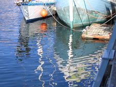 Beautiful Reflection Of Boats Stock Photography