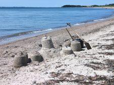 Free Beach Fun - Sandcastles Stock Photo - 4626430