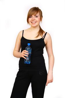Free Woman With Bottle Stock Photo - 4627040