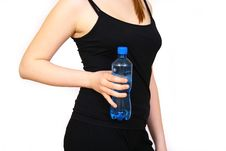 Free Woman With Bottle Stock Images - 4627074