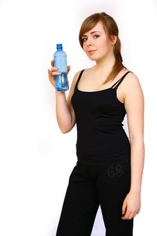 Free Woman With Bottle Stock Photos - 4627353