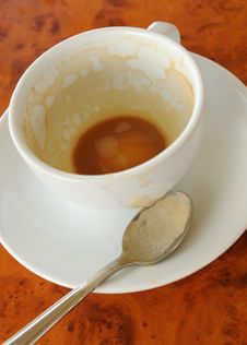 Free An Empty Cup, Its Coffee Drank Stock Image - 4627391