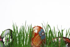 Free Easter Eggs In Grass Stock Photo - 4628180