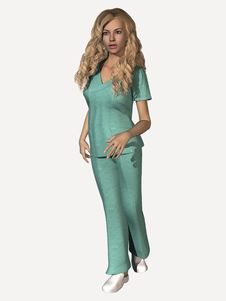 Free Young Woman In Medical Scrubs Stock Images - 4628374