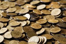 Free Pile Of Cooper Coins Stock Image - 4629281