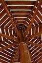 Free Wooden Umbrella On Beaach In Egypt Stock Photos - 46230883