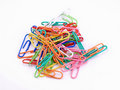 Free Color Paper Clips Royalty Free Stock Photography - 4630717