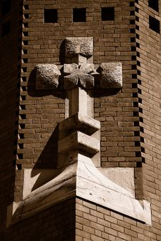 Free Church Cross Stock Image - 4630311