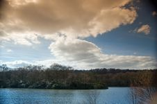 Free Clouds And The Lake Stock Image - 4630811