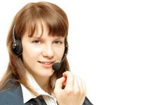 Free Young Woman With Microphone Stock Photography - 4631692