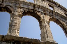 Ancient Amphitheatre Royalty Free Stock Images