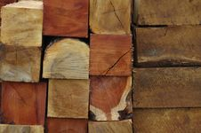 Free Piled Wood Blocks Royalty Free Stock Images - 4631839
