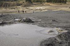 Muddy Volcanoes In Buzau Stock Images