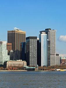 Free The Lower Manhattan Skyline Royalty Free Stock Photos - 4632588