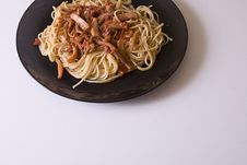 Free Flat Typical - Spaghetti To The Juice With Squids Stock Photography - 4632832