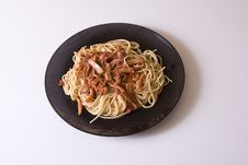 Free Flat Typical - Spaghetti To The Juice With Squids Royalty Free Stock Images - 4632839