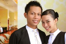 Free Two Restaurant Staff Stock Image - 4633061